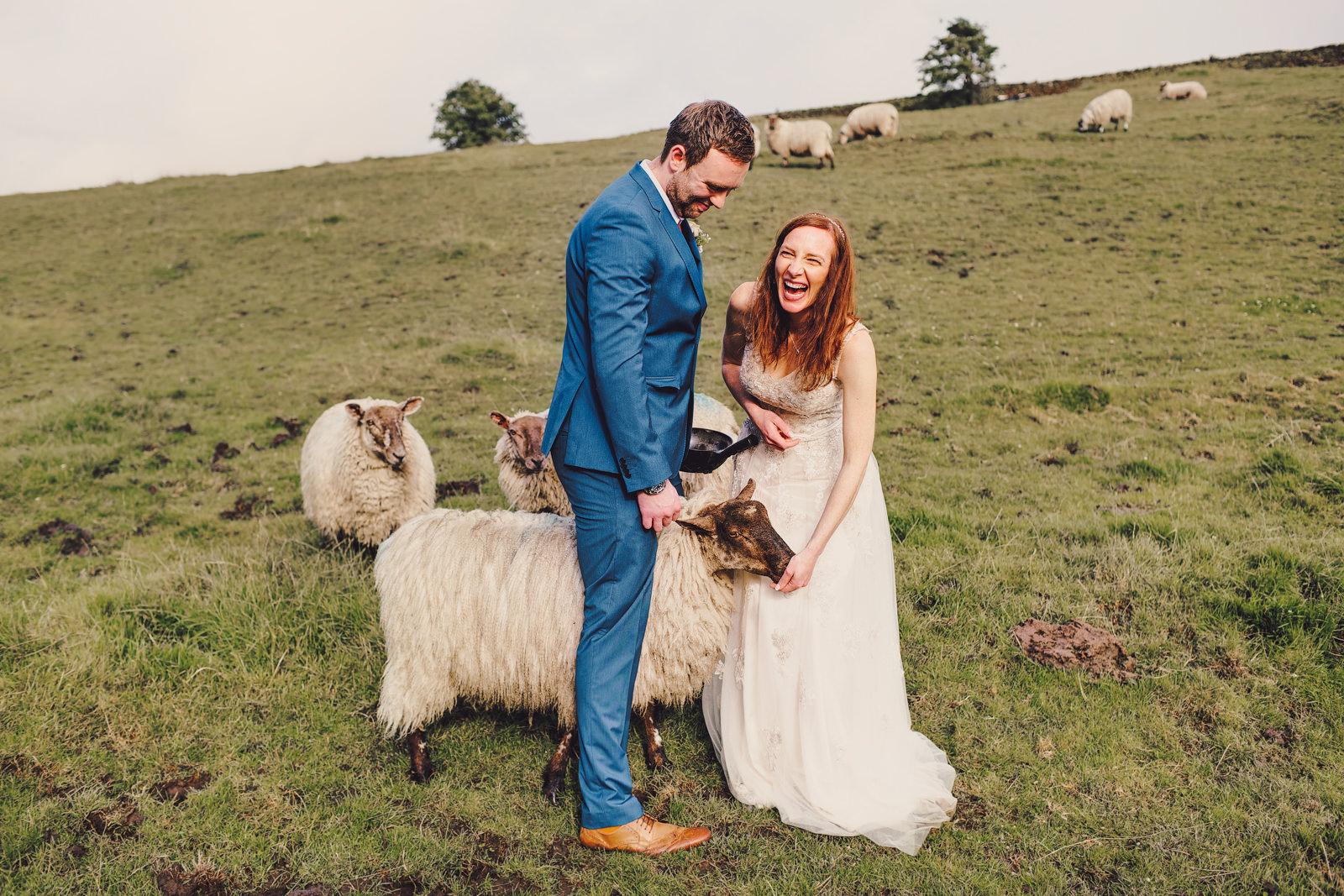farm wedding in derbyshire
