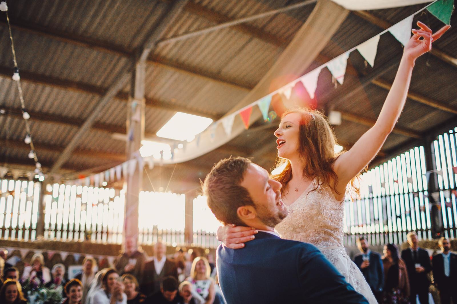 barn wedding on derbyshire farm