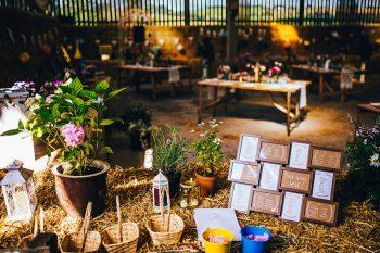barn wedding in derbyshire