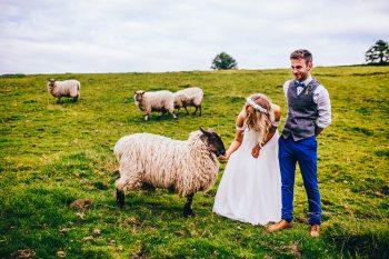 barn wedding in high peak