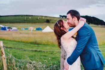 wedding on a derbyshire farm